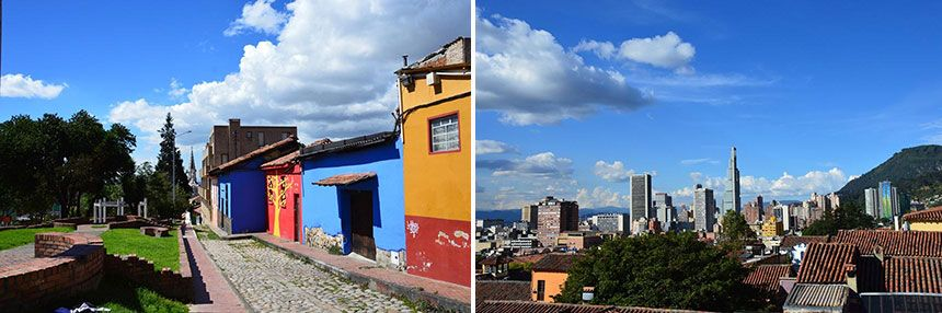 The surroundings of the property and view of Bogotá´s skyline